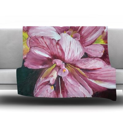 Day Lily Blooms by Cathy Rodgers Fleece Throw Blanket Size: 90 H x 90 W