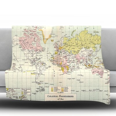 Travel by Catherine Holcombe Fleece Throw Blanket Size: 40 H x 30 W