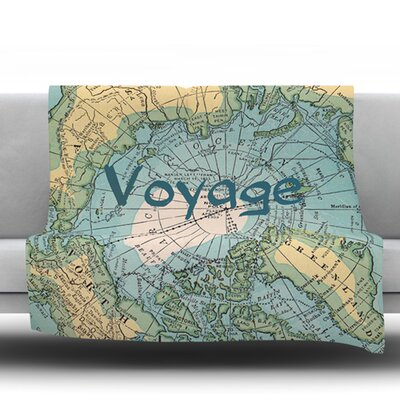 Voyage by Catherine Holcombe Fleece Throw Blanket Size: 40 H x 30 W