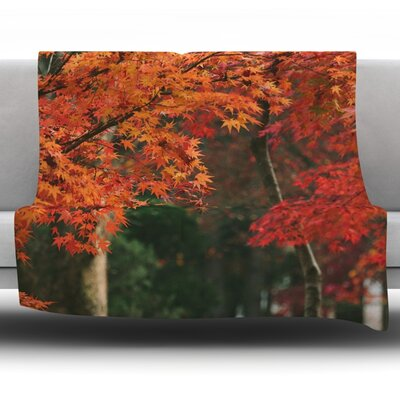 Autumn Sonata by Catherine McDonald Fleece Throw Blanket Size: 80 L x 60 W