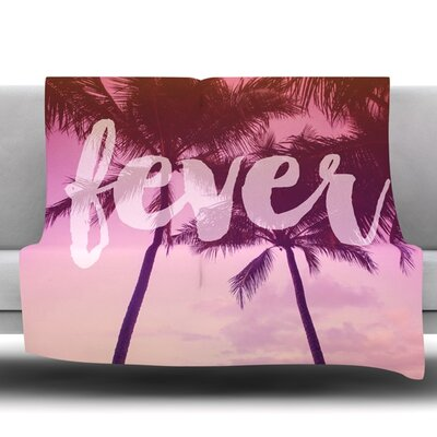 Fever by Catherine McDonald Fleece Throw Blanket Size: 60 L x 50 W