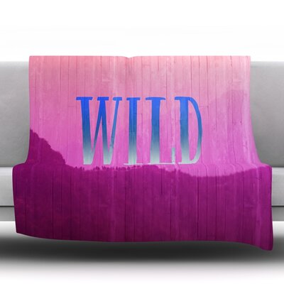 Wild by Catherine McDonald Fleece Throw Blanket Size: 80 L x 60 W
