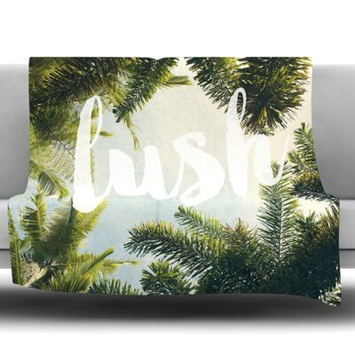 Lush by Catherine McDonald Fleece Throw Blanket Size: 40 H x 30 W