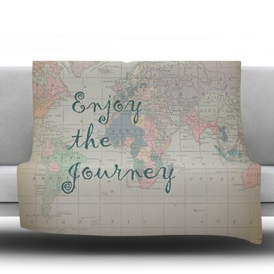 Journey by Catherine Holcombe Fleece Throw Blanket Size: 60 H x 50 W