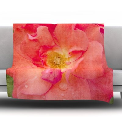 Rose by Catherine McDonald Fleece Throw Blanket Size: 60 L x 50 W