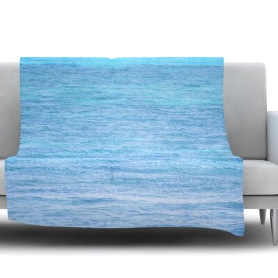 South Pacific II by Catherine McDonald Fleece Throw Blanket Size: 40 L x 30 W