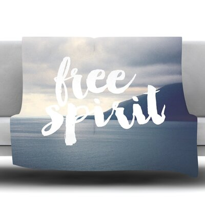 Free Spirit by Catherine McDonald Fleece Throw Blanket Size: 90 H x 90 W