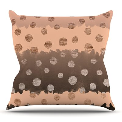 Earth Dots by Nika Martinez Throw Pillow Size: 18 H x 18 W