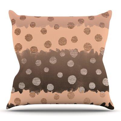 Earth Dots by Nika Martinez Throw Pillow Size: 18 H x 18 W