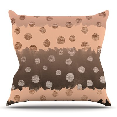 Earth Dots by Nika Martinez Throw Pillow Size: 26 H x 26 W