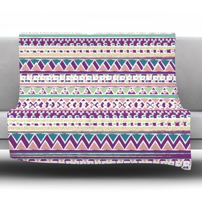Boho Ibiza by Nika Martinez Fleece Blanket Size: 80 L x 60 W