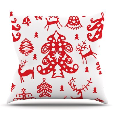 Frosted Landscape by Miranda Mol Throw Pillow Size: 16 H x 16 W