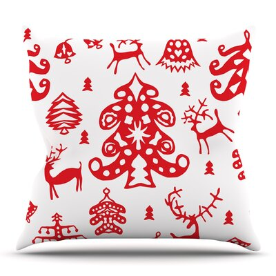 Frosted Landscape by Miranda Mol Throw Pillow Size: 18 H x 18 W