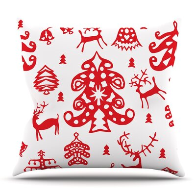 Frosted Landscape by Miranda Mol Throw Pillow Size: 26 H x 26 W