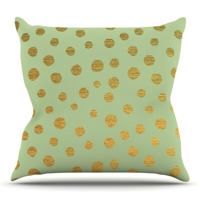 Golden Dots and by Nika Martinez Throw Pillow Size: 16 H x 16 W