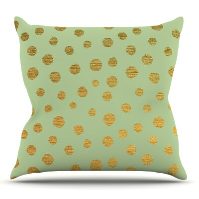 Golden Dots and by Nika Martinez Throw Pillow Size: 18 H x 18 W