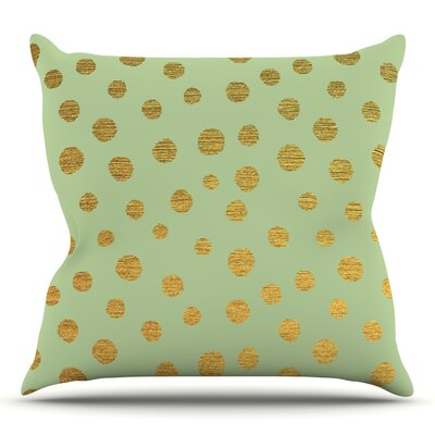 Golden Dots and by Nika Martinez Throw Pillow Size: 20 H x 20 W