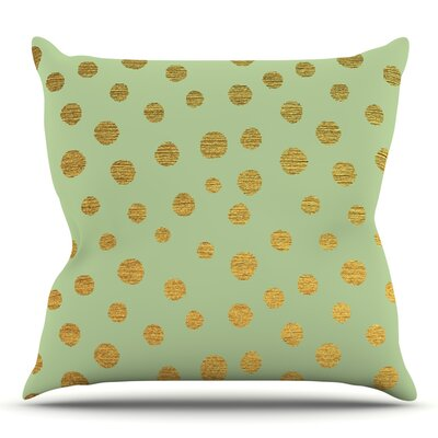 Golden Dots and by Nika Martinez Throw Pillow Size: 26 H x 26 W