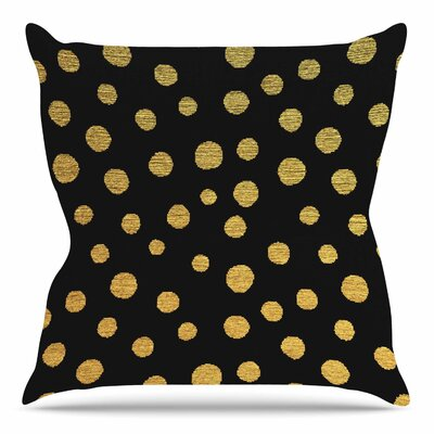 Golden Dots by Nika Martinez 16 Throw Pillow