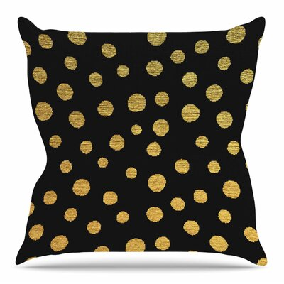 Golden Dots by Nika Martinez 18 Throw Pillow