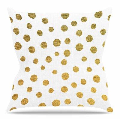 Golden Dots by Nika Martinez 16 Throw Pillow