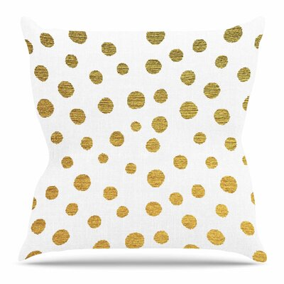Golden Dots by Nika Martinez 18 Throw Pillow
