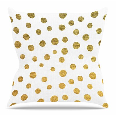 Golden Dots by Nika Martinez 26 Throw Pillow