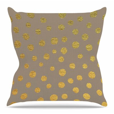 Earth Golden Dots by Nika Martinez Throw Pillow Size: 20 H x 20 W