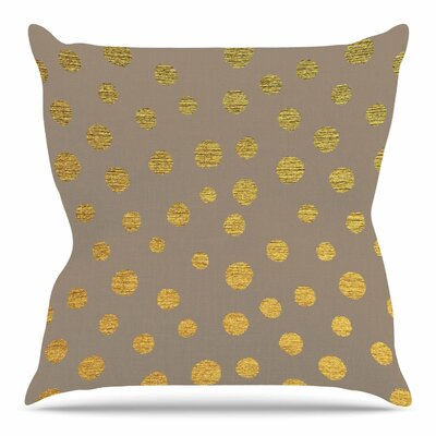 Earth Golden Dots by Nika Martinez Throw Pillow Size: 18 H x 18 W