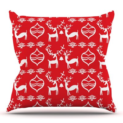 Antler Fun by Miranda Mol Throw Pillow Size: 16 H x 16 W