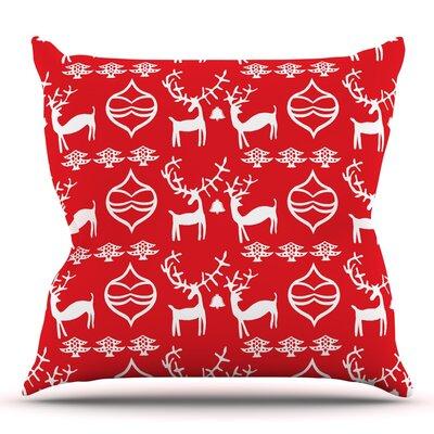 Antler Fun by Miranda Mol Throw Pillow Size: 20 H x 20 W