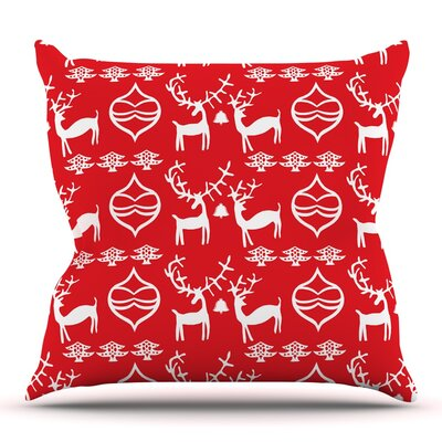 Antler Fun by Miranda Mol Throw Pillow Size: 26 H x 26 W