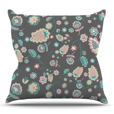 Cute Winter Floral by Nika Martinez Throw Pillow Size: 16 H x 16 W