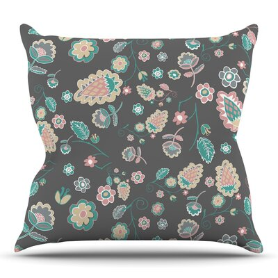 Cute Winter Floral by Nika Martinez Throw Pillow Size: 20 H x 20 W