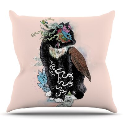 Black Magic by Mat Miller Throw Pillow Size: 18 H x 18 W