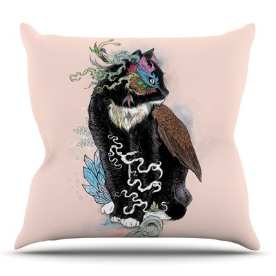 Black Magic by Mat Miller Throw Pillow Size: 26 H x 26 W