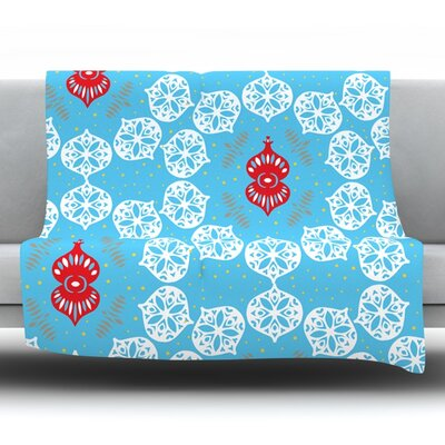 Frosted by Miranda Mol Fleece Blanket Size: 80 L x 60 W