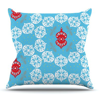 Frosted by Miranda Mol Throw Pillow Size: 18 H x 18 W
