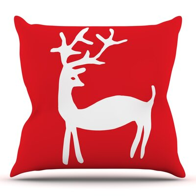 Reindeer by Miranda Mol Throw Pillow Size: 20 H x 20 W