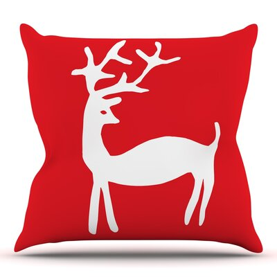 Reindeer by Miranda Mol Throw Pillow Size: 26 H x 26 W