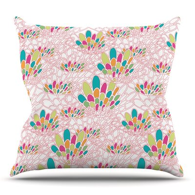 Blown Away by Miranda Mol Throw Pillow Size: 18 H x 18 W