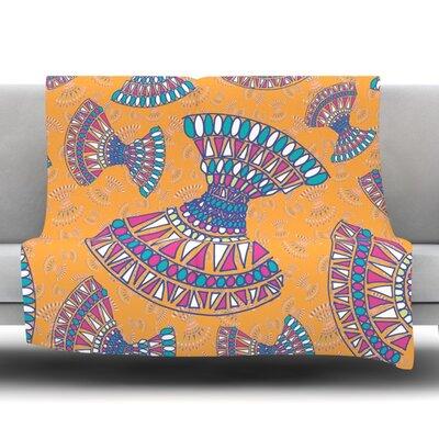 Tribal Fun by Miranda Mol Fleece Blanket Size: 40 L x 30 W
