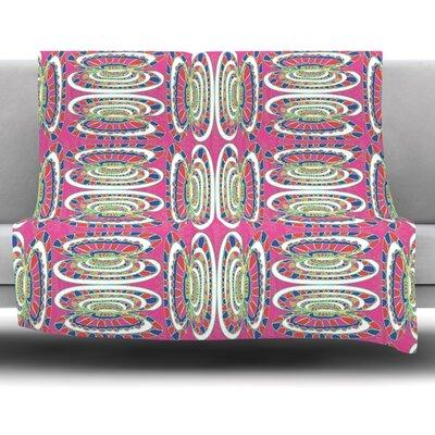 Bohemian Wild by Miranda Mol Fleece Blanket Size: 40 L x 30 W