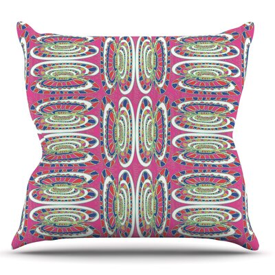 Bohemian Wild by Miranda Mol Throw Pillow Size: 18 H x 18 W