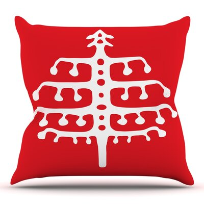 Deco Tree by Miranda Mol Throw Pillow Size: 18 H x 18 W