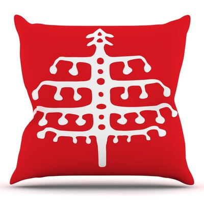 Deco Tree by Miranda Mol Throw Pillow Size: 20 H x 20 W