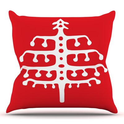 Deco Tree by Miranda Mol Throw Pillow Size: 26 H x 26 W