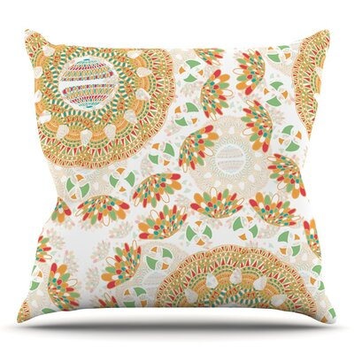 Bohemian Bright by Miranda Mol Throw Pillow Size: 18 H x 18 W