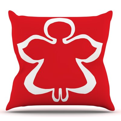 Flying Angel by Miranda Mol Throw Pillow Size: 18 H x 18 W
