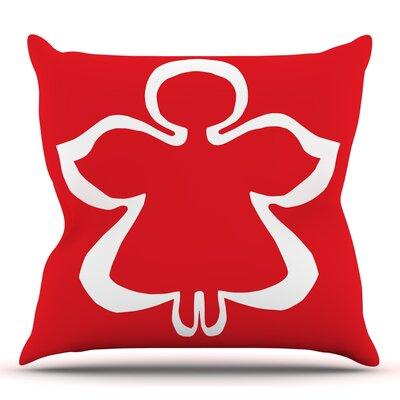 Flying Angel by Miranda Mol Throw Pillow Size: 18 H x 18 W